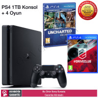 Sony Drive Club + Uncharted Collection PS4 1 TB Slim Oyun Konsolu