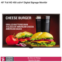 LG 49SM5D Full HD 450 cd/m² Digital Signage Monitör