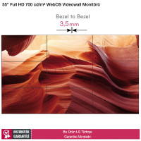 LG 55LV77E Full HD 700 nits 3,5 mm Bezel Videowall Monitörü