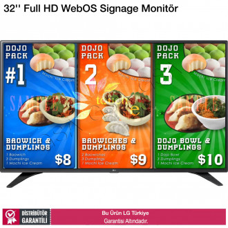 LG 32LS53A Full HD WebOS Digital Signage Monitör