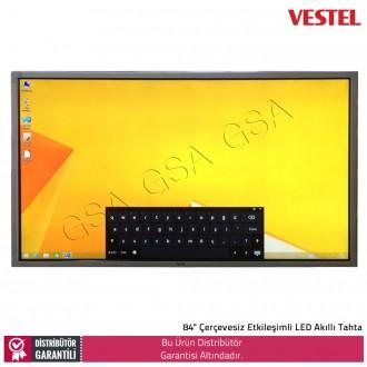 """Vestel 84"""" Çerçevesiz Etkileşimli LED Akıllı Tahta"""