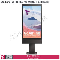 LG 86XE3E 189 Ekran Full HD 3000 Nits IP56 Outdoor Endüstriyel Monitör