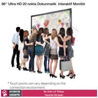 LG 86TR3D 86 inç Ultra HD 20 nokta Dokunmatik interaktif Ekran