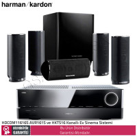 Harman Kardon HDCOM 1616S AVR161S Amfi ve HKTS16 5.1 Ses Sistemi