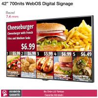 LG 42LS75C 7,4mm Bezel 700 nits WebOS Digital Signage