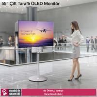 LG 55EH5C 55 inç Çift Tarafı Ekranlı Full HD OLED Monitör