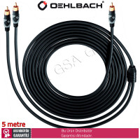 Oehlbach Easy Connect Sub Y Aktif Subwoofer için Y sinyal kablosu