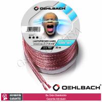 Oehlbach 107 2 x 1,5mm 30mt Oksijensiz Bakır Hoparlör Kablosu